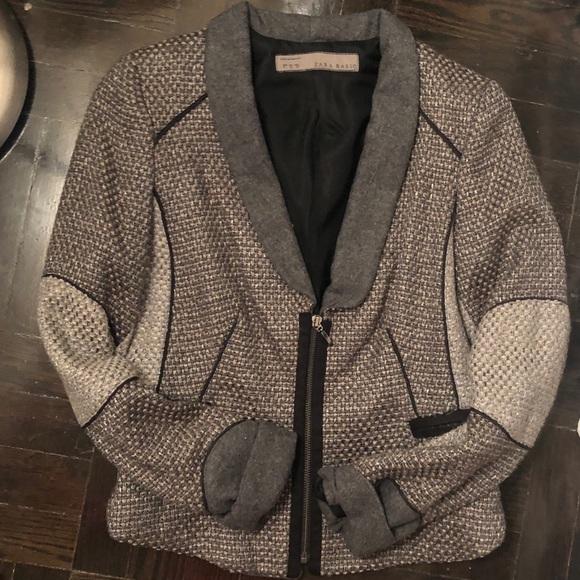 Zara Jackets & Blazers - Zara medium grey zip blazer